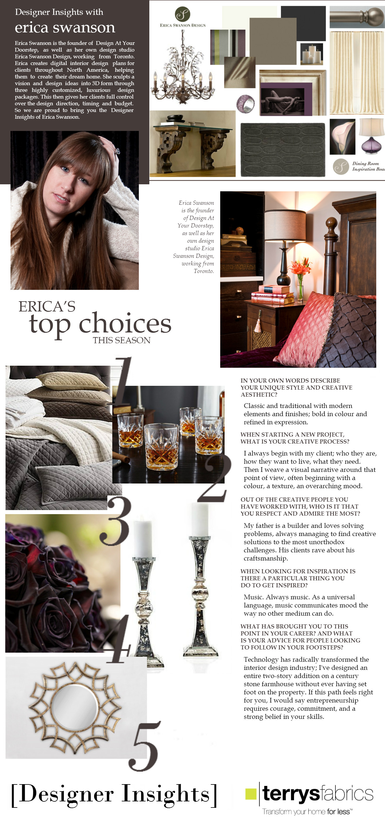 Terry's Fabrics - Designer Insights